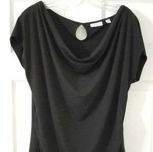 New York and Company Stretch Top Black XL
